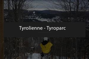 Tyrolienne en plein mois d'hiver